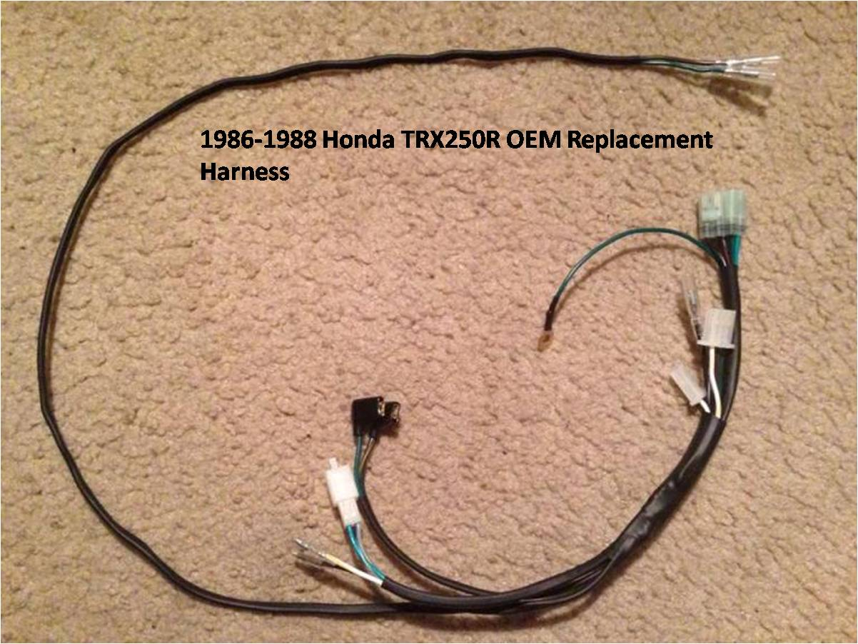 1986 1988 Honda TRX250R OEM Replacement Harness 1986 1988 honda trx250r wire harness jds customs trx250r wiring harness at webbmarketing.co