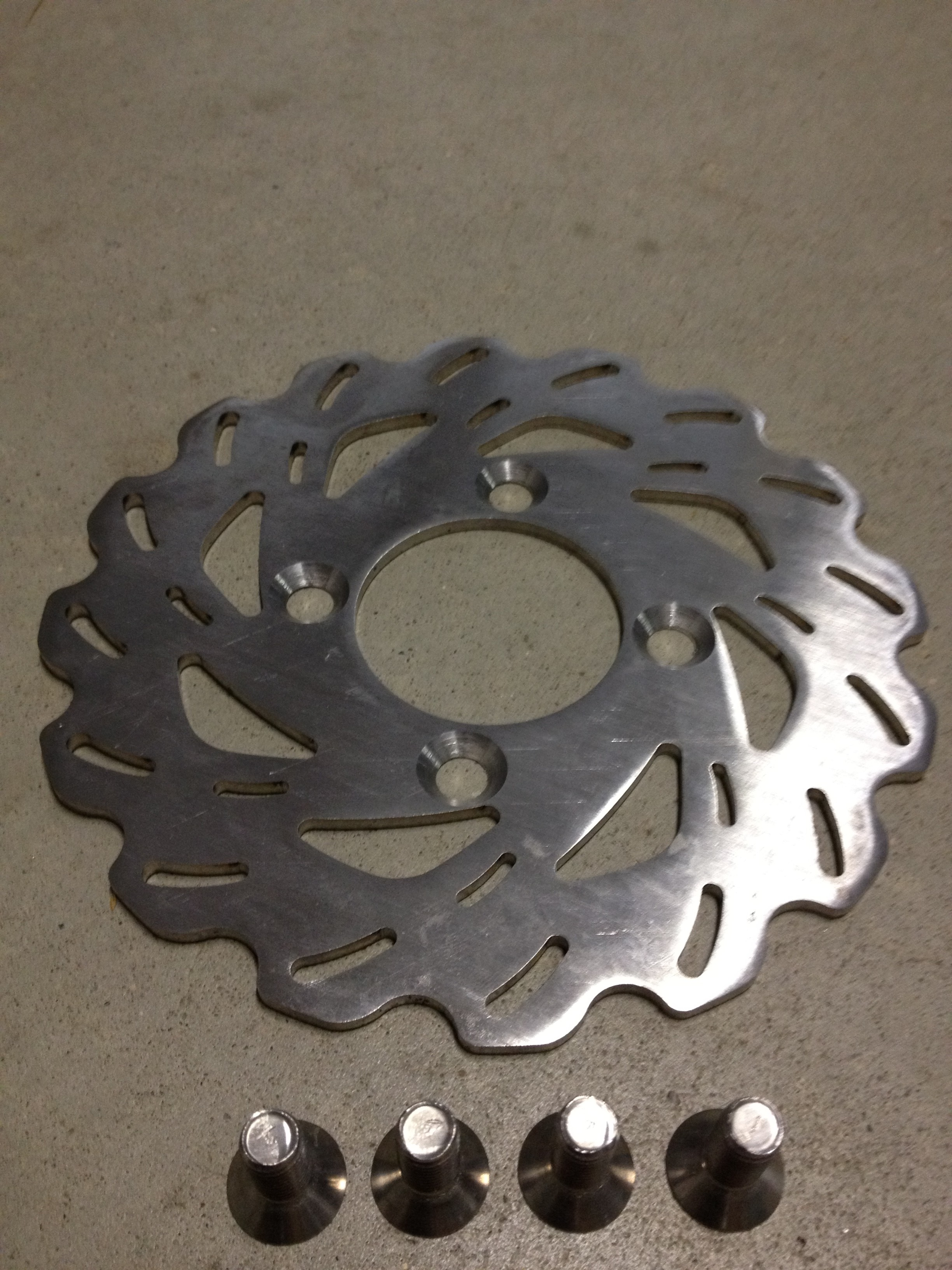 Cyclone Front Rotors for Yamaha Banshee