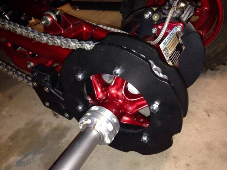 Yamaha Banshee Rear Sprocket Guard Jds Customs
