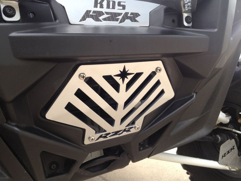 Polaris RZR Angle Slotted Winch Cover