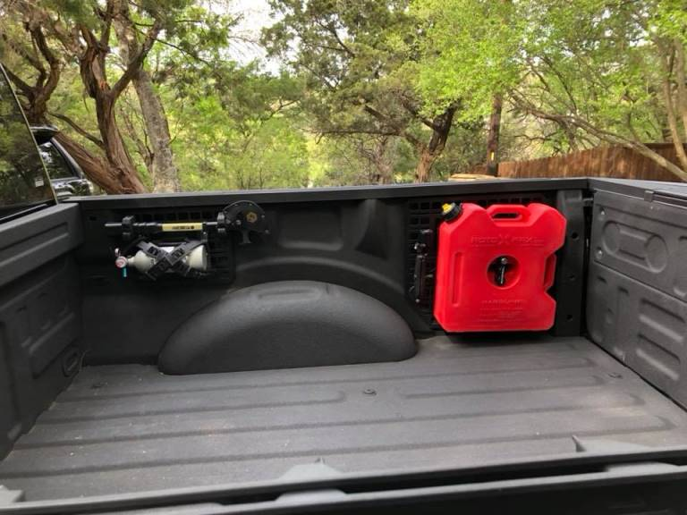 2017 + Ford Truck Rotopax Fuel Can Bed Mount Bracket Kit ...
